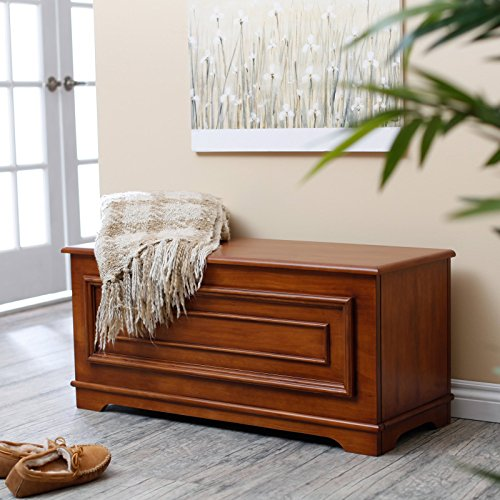 Stylish Indoor Bedroom Wooden Storage Chest in Classic Oak Finish with Fully Finished Back, Sturdy Engineered Wood Covered in Wood Veneers, Perfect for Hallway, Living Area, or Play Room