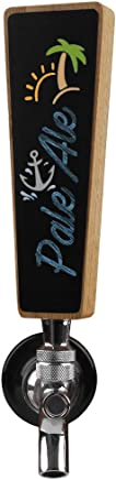 Small Chalkboard Beer Tap Handle,  Mini kegerator Tap Handles,  6.5 Inch Tall Oak Wood