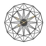 SNOWINSPRING 50Cm Tipo NóRdico Retro Arte de Hierro Reloj de Pared Colgante Silencioso Grande Mute Hanger Relojes Hogar Sala de Estar Dormitorio DecoracióN Nuevo