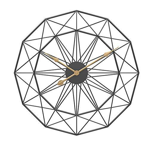 ROSELI 50Cm Tipo NóRdico Retro Arte de Hierro Reloj de Pared Colgante Silencioso Grande Mute Hanger Relojes Hogar Sala de Estar Dormitorio DecoracióN Nuevo