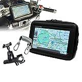 防水ケース バイク 防水 防塵 マウント キット ポータブルナビ GPS タブレット ホルダー ウォータープルーフ ツーリング NV-BAG03-SET1