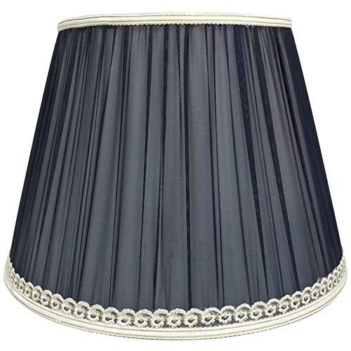 Plisowany abażur z tkaniny, abażur do lampy stołowej, salon E27 Śruba z tkaniny Usta Lampa stołowa Abażur do lampy podłogowej, niebieski