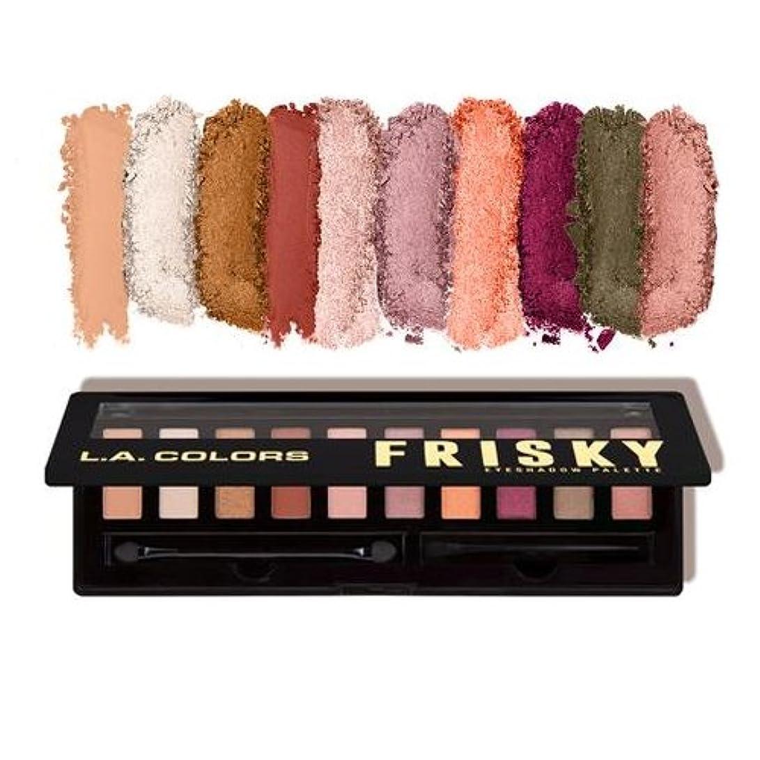 入浴熟す非常に怒っています(3 Pack) L.A. COLORS Personality Eyeshadow Palette - Frisky (並行輸入品)