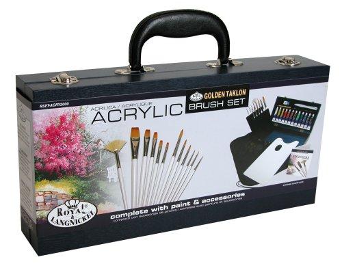 Royal and Langnickel Kit pour peinture acrylique Pinceaux en bois