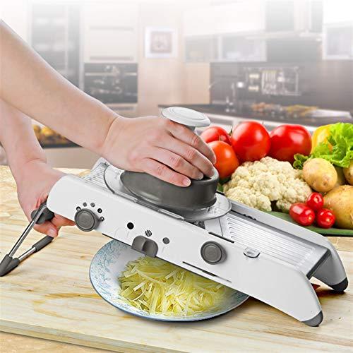 Küchenutensilien Edelstahlgriff Hitzebeständigkeit Mandolinist Slicer Manueller Gemüseschneider Professionelle Reibe mit justierbarem 304 Klingen aus rostfreien Stahl-Gemüse-Küche-Werkzeug Küchenutens