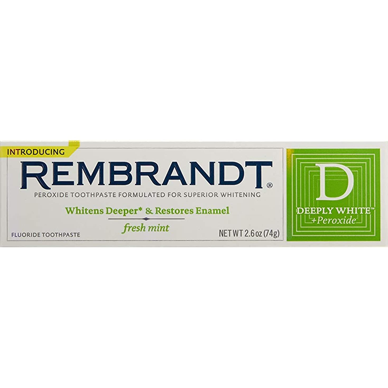 寝る変わる率直なRembrandt プラスハミガキフレッシュミント2.60オズ(4パック) 4パック