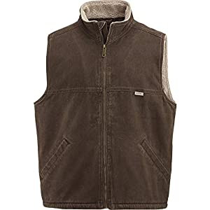 Men's Sherpa-lined Enzyme Washed Vest