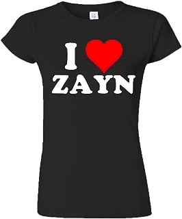 I Love Zayn Juniors T-shirt-Black/White