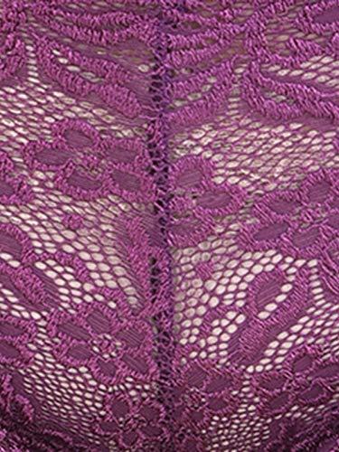 Clovia Women's Lace Low Waist Boyshorts (PN2656P15_Purple_XL)