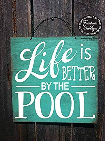 Not Branded 30x30cm, Pool-Schild, Pool-Dekoration, Pool-Dekoration, Schwimmbecken, Hinterhof, Dekoration, Schwimmbad, Better by Pool 830862