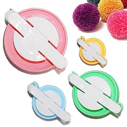 Herramienta eléctrica de costura para hacer pompones de 4 tamaños distintos, 38, 48, 68 y 88mm, de la marca Tmade