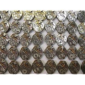 Watch Movements lot of 16 Russian Women's Watch mechanisms 18 mm Rhombus Steampunk Art Parts DIY