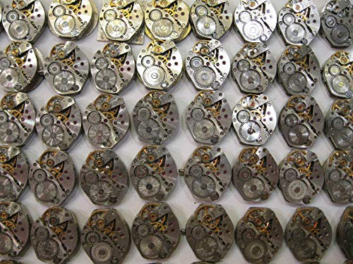 Watch Movements lot of 16 Russian Women's Watch mechanisms 18 mm Rhombus Steampunk Art Parts DIY 3