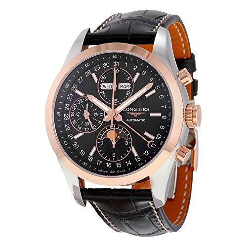 Longines Conquista Negro Dial Cronógrafo Automático Mens Reloj l2798