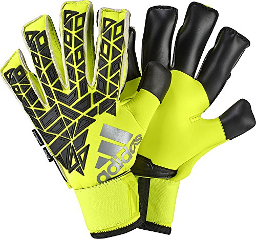 adidas Torwarthandschuhe ACE Fingersave Pro, solar yellow/Black/Semi solar yellow, 8.5