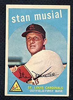 1959 Topps #150 Stan Musial Cardinals EX-MT 372238 Kit Young Cards