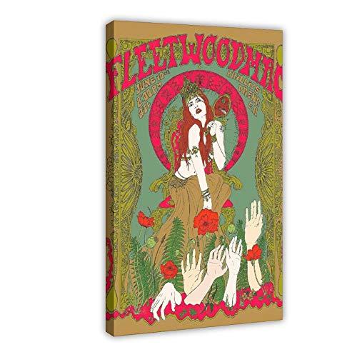 Fleetwood Mac Tango Vinilo Music Super Deluxe Póster de lona para decoración de dormitorio, paisaje, oficina, habitación, regalo, 50 x 75 cm. Marco: