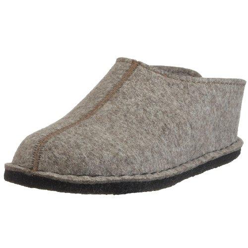 Haflinger Flair Smily, Pantoffeln, Unisex-Erwachsene, Filz aus reiner Wolle, Beige (550 Torf), 36 EU