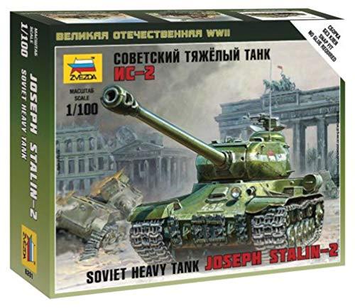 ズベズダ 1/100 ソビエト 重戦車 IS-2 プラモデル ZV6201
