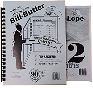 Bill-Butler Monthly Household Bill Organizer & Budget-Lope