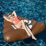 TCHENG Flotador de Piscina Inflable, colchón Flotante de natación, Tumbona para Piscina, Cama de Piscina para Adultos