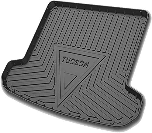 Auto Kofferraummatten für Hyundai Tucson 2015 2016 2017 2018 2019 2020 2021, Gummi Kofferraumwanne Schutzmatte Staubdicht Dekorationszubehör