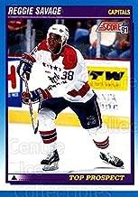 (CI) Reggie Savage Hockey Card 1991-92 Score Canadian Bilingual 350 Reggie Savage
