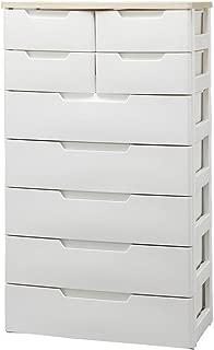 アイリスオーヤマ チェスト 7段 幅72×奥行40.5×高さ131cm ホワイト 白 プラスチック MU-7254