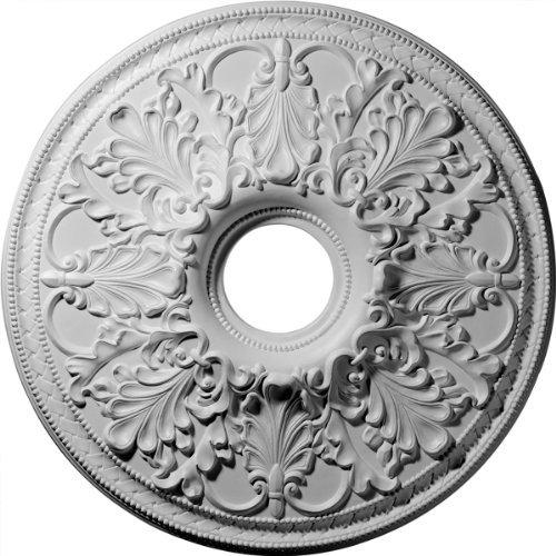 Ekena Millwork CM23AS 23 7/8-Inch OD x 4 1/8-Inch ID Ashley Ceiling Medallion by Ekena Millwork