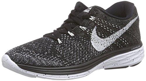 Nike Women's Flyknit Lunar3 Black/White/Mdnght Fog/WLF Gry Running Shoe 5.5 Women US