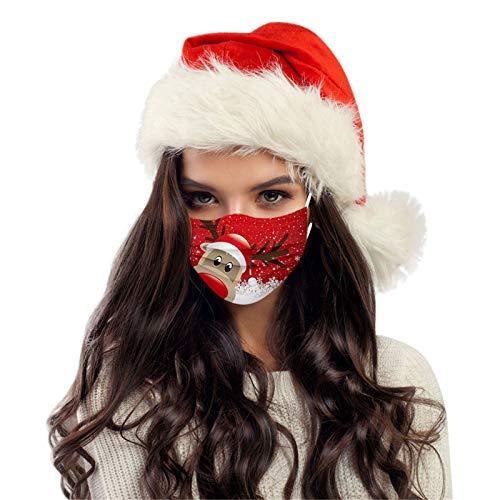 HUYURI 50 Stück Schwarze Einweg 3-Lagig Erwachsene Schals Weihnachtsmotiv Atmungsaktive Staubschutz Bandana Multifunktionstuch Halstuch Outdoor