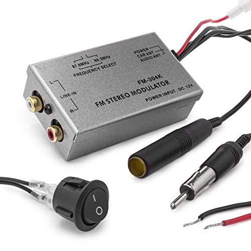 Universal FM Modulateur stéréo MP3 pour Voiture Câble Adaptateur Radio RCA AUX