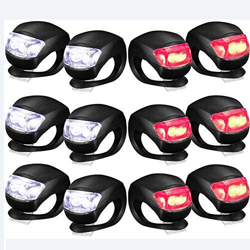 SZKP 12-teiliges Fahrradlicht LED-Beleuchtung Aus Silikon Vorne Und Hinten Für Fahrradset Fahrradscheinwerfer Und Rücklicht wasserdichte Rennradlichter