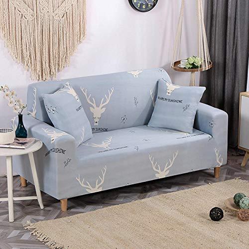 HXTSWGS Funda de sofá Antideslizante,Funda de sofá elástica, Tejido elástico, Funda Protectora para Muebles-Gris 4_90-140cm