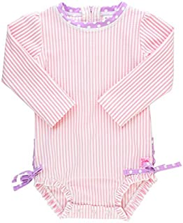 RuffleButts Baby/Toddler Girls Long Sleeve One Piece...