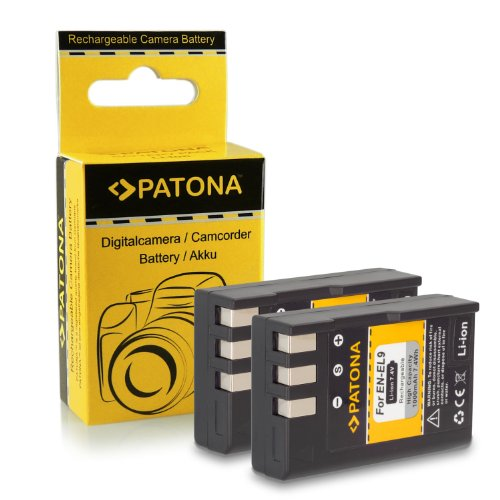 2x Batería EN-EL9 / EN-EL9a para Nikon D40 | D40x | D60 | D3000 | D5000