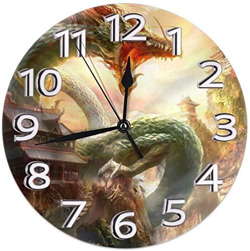 AZHOULIULIU Co.,ltd Decoración de Relojes de Escritorio de dragón para la Escuela Den Simplicidad precisa