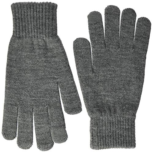 JACK & JONES Herren JACBARRY Knitted Gloves NOOS Handschuhe, Grau (Grey Melange Grey Melange), (Herstellergröße: One Size)