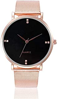 Triskye Womens Analog Quartz Watches Business Casual Classic Luxury Crystal Stainless Steel Strap Band Round Wrist Watch Ladies Wristwatch Bracelet for Teen Girls