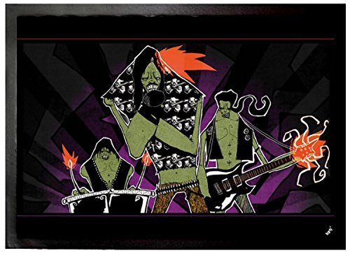 1art1 Arte Urbano - Zombies Hard Rock, Marcus Merget Felpudo Alfombra (70 x 50cm)
