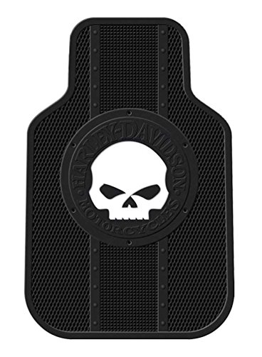 Harley-Davidson Floor Mats Willie G Skull Universal-Fit Front Set of 2 Mats 1476