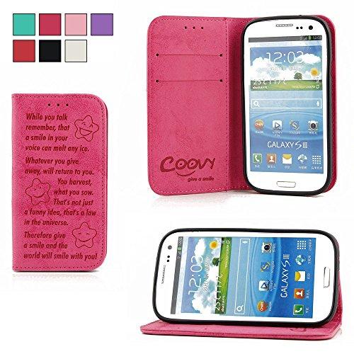 COOVY® Funda para Samsung Galaxy S3 GT-i9300 GT-i9305 Neo GT-i9301 Billetera, Ranuras...