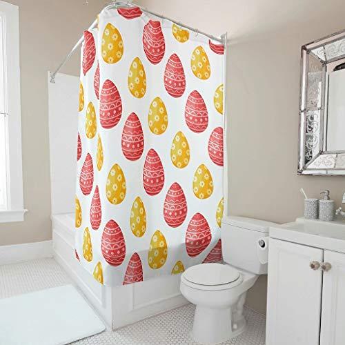 Rcerirt zeitgemäß gedämpfte Töne Badvorhang mit Haken für Bad Duschorganisator Polyestergewebe White 200x200cm