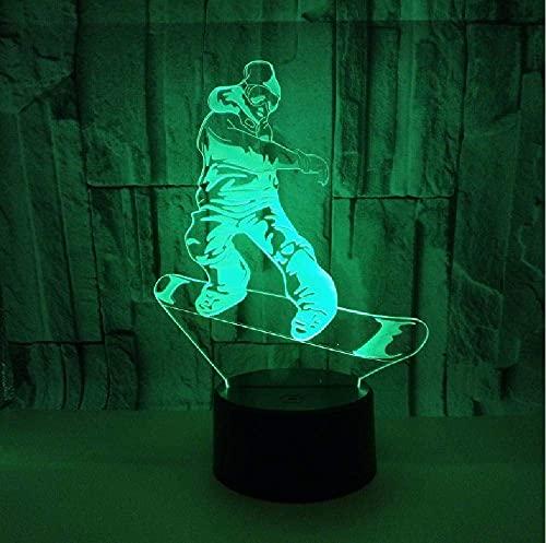 Movimiento De La Vespa Lámpara 3D Lámpara Led Colorido Festival Visual Regalo 3D Luz Nocturna Luces Para Niños Lámparas