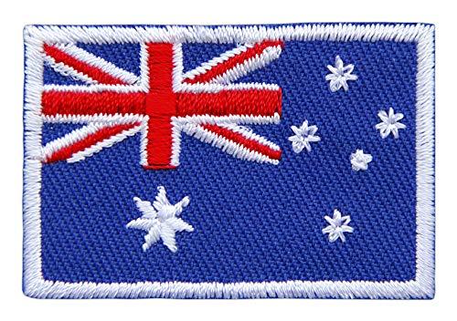 Patch Australien Flagge Klein Australia Down Under Aufnäher Bügelbild Größe 4,6 x 3,0 cm
