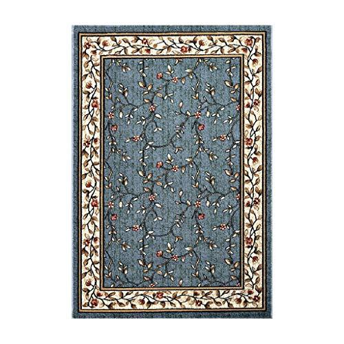 Brilliant firm Teppiche Teppich Wohnzimmer Europäischen Couchtisch Kissen Schlafzimmer Bett voller modernen minimalistischen chinesischen Stil Bodenmatte (Color : Blue, Size : 60 * 90cm)