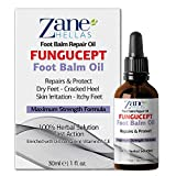 Zane Hellas Fungucept Foot Balm. Repairs & Protects from Itching, Burning, Cracking, Scaling. Stops Bad Odor. Visible Results in 5 Days. Herbal Solution. 1 fl.oz. - 30ml