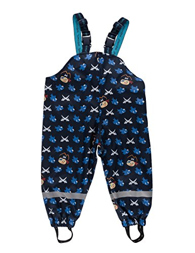 maximo Jungen Sharky Regenhose, Blau (navy/aquamarine 1156), 86