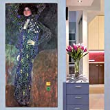 olwonow DIY Pintura Digital Gustav Klimt Mujeres Pinturas de Lienzo Doradas Pintura al óleo clásica Cuadros de Pared para Sala de Estar Arte de Lienzo Grande Cuadros Decorativos 40x50 cm Sin Marco