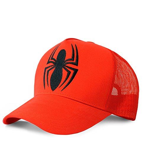 Logoshirt Casquette l'homme Araignée - Casquette de Baseball Marvel Comics - Spider-Man - Visière Super-héros - Trucker Cap avec Logo brodé - Rouge -